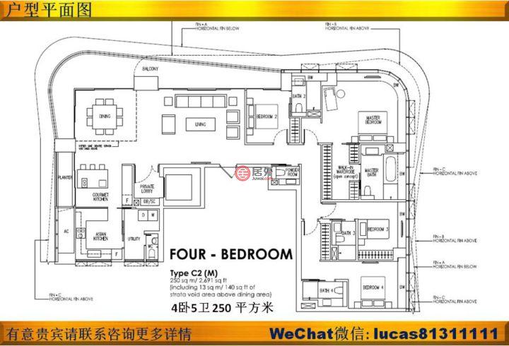 新加坡中星加坡新加坡的房产,18 Leonie Hill Road,编号36031278