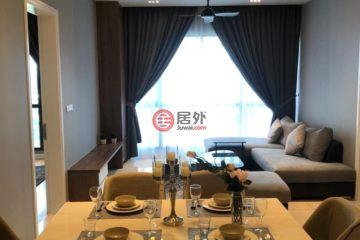 居外网在售马来西亚吉隆坡2卧2卫的房产总占地92平方米MYR 5,500 / 月