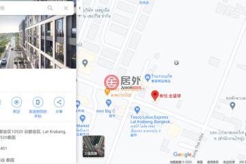居外网在售泰国曼谷1卧1卫的房产总占地28平方米THB 1,995,000