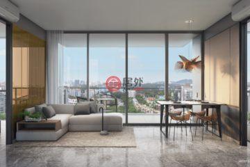 居外网在售新加坡2卧2卫新开发的房产总占地12830平方米SGD 1,582,000