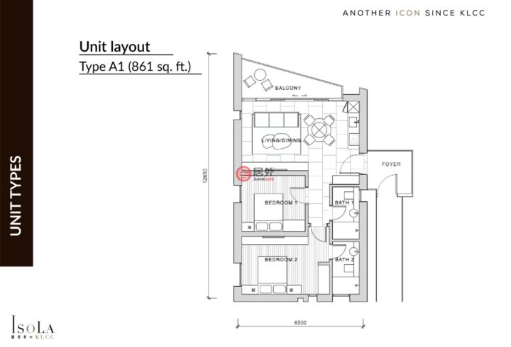 马来西亚Kuala Lumpur吉隆坡的公寓,Lot 95, Seksyen 43, Jalan Yap Kwan Seng,编号58075571