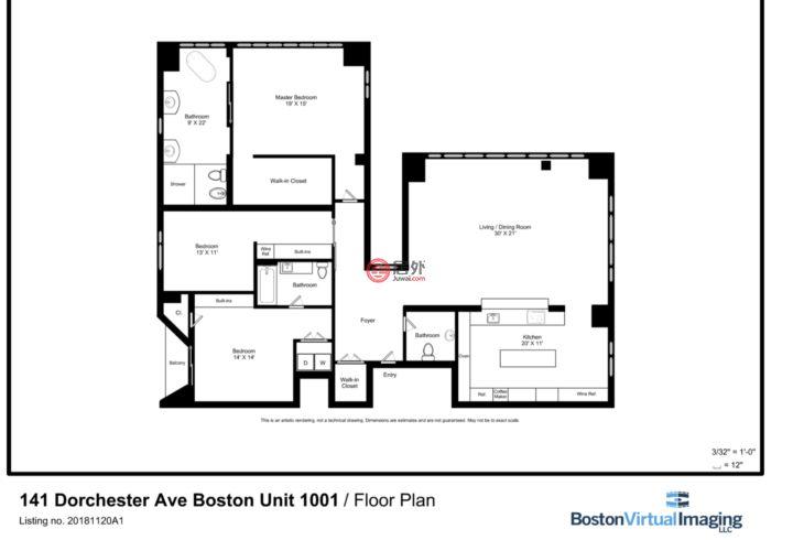 美国马萨诸塞州波士顿的房产,141 Dorchester Avenue,编号48704085