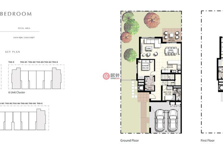 阿联酋迪拜迪拜的联排别墅,藏红花联排,编号55588253