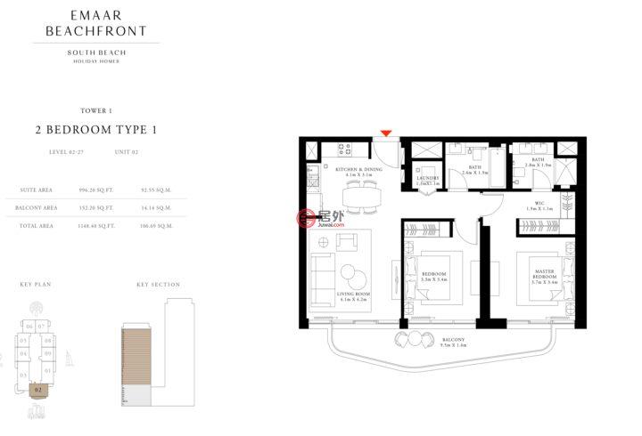 阿联酋迪拜迪拜的公寓,holidayhomes,编号55794792
