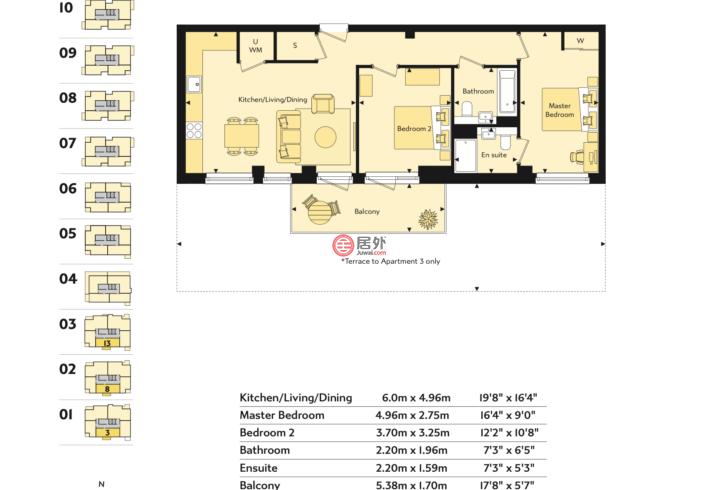 英国英格兰伦敦的公寓,湖畔南湾,Southmere,编号58949269