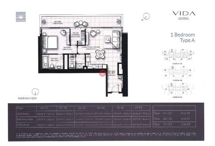 阿联酋迪拜迪拜的房产,迪拜码头,编号56206546