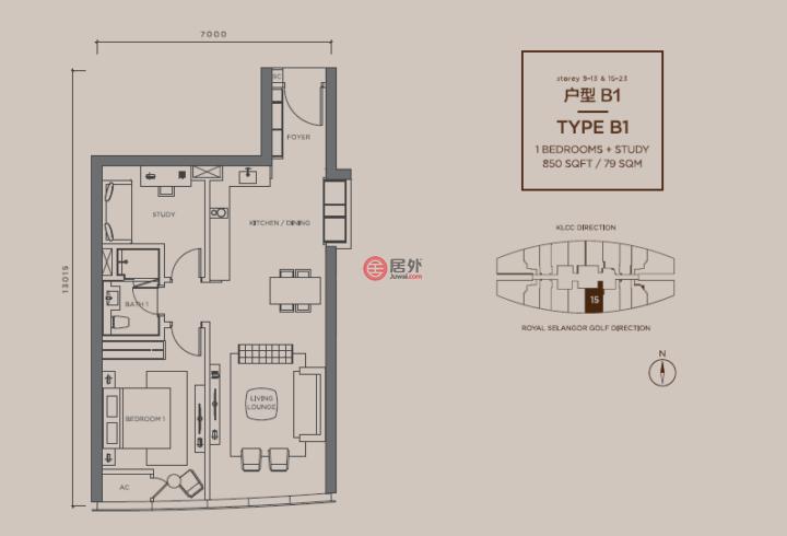马来西亚Federal Territory of Kuala LumpurKuala Lumpur的房产,Jalan Kia Peng,编号52345739