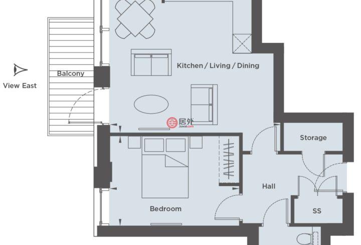 英国英格兰伦敦的公寓,Thames Road,编号59315551