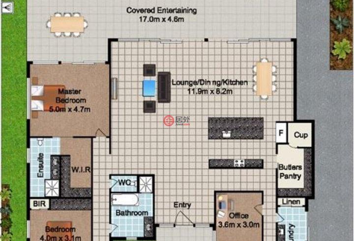 澳大利亚昆士兰Paradise Point的房产,19 Paterson Place,编号45538799